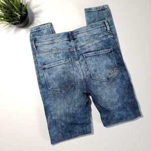 Express Jeans - Express High Rise Acid Wash Skinny Leggings